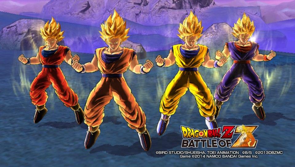 4 mal Goku, da hat der Gegner doch keine Chance